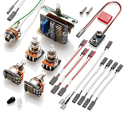 emg 3 pickup stratocaster style complete active wiring kit. Black Bedroom Furniture Sets. Home Design Ideas